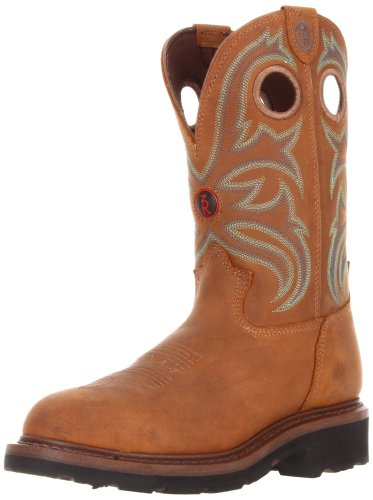 Tony Lama Boots Men's RR3206 Work Boot,Tan Cheyenne Buffalo,10.5 D US