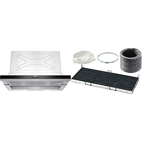 Siemens LI67SA670 iQ700 Flachschirmhaube / 59,8 cm/LED-Beleuchtung/Extrem Leise/TouchControl/Edelstahl & LZ45650 Dunstabzugshaubenzubehör/Einbau
