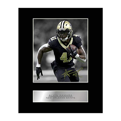 Alvin Kamara Print Signed Mounted Photo Display #1 Autographed Picture Print