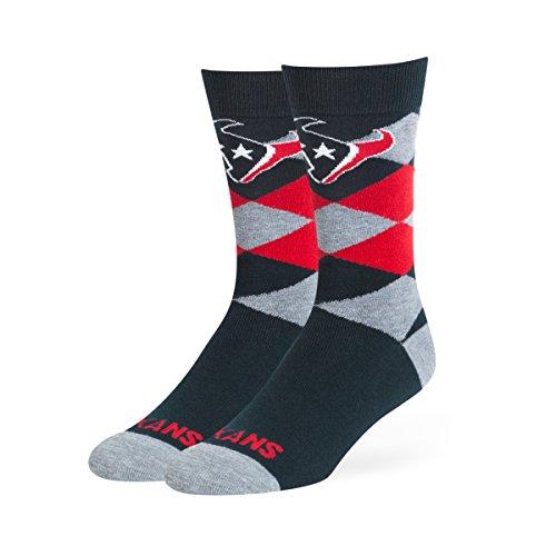 OTS NFL Houston Texans Men's Blaine Dress Sock, Team Color, Large