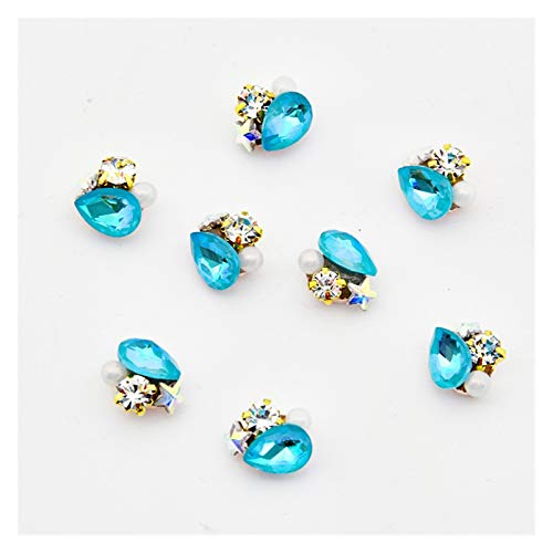 XIAOFANG 100pcs Strass for 3D Uñas Arte Diseño Encantos Manicure Crystal Alloy Diamond Rhinestones Nails Supplies Jewelry Nail Luxury Gems (Color : 2)