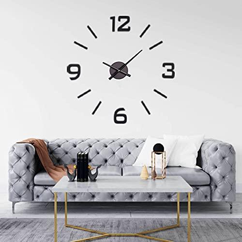 DIY CLOCK Orologio da parete,Orologio a parete, Orologio Da Parete Grande, Orologio Parete, Decorazioni casa, Da Cucina, EVA Impermeabile di alta qualità, 60 cm (NERO)