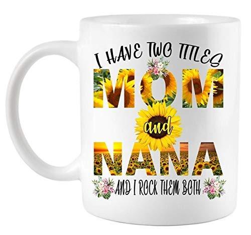 Tengo dos títulos Mamá y Nana Taza de café Taza de 11 oz