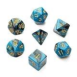 LaDicha 7Pc/Set Trpg Games Juegos Dices D4-D20 Multi-Lados Dices 6Color - Azul