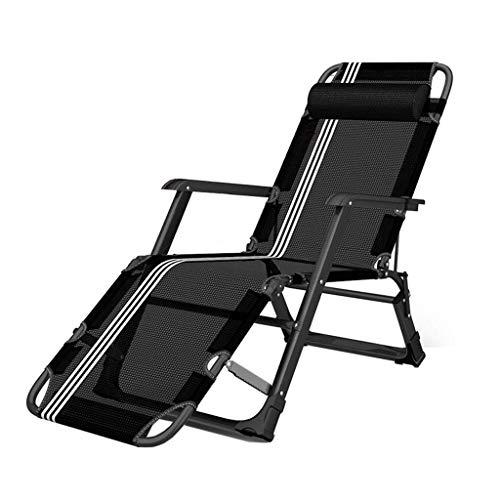 BATOWE Silla de playa Salón reclinable plegable Tumbona reclinable Tumbona plegable cama cama de camping silla de la oficina de la siesta de la mujer embarazada reclinable portátil de viaje respaldo s