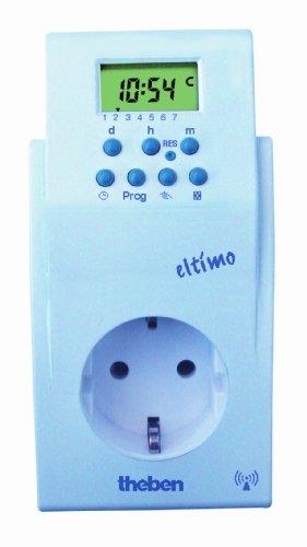 Theben 0200300 theben-eltimo 020 S DCF - Digitale Steckdosenschaltuhr - DCF-Funksteuerung - 33 Speicherplätze - deaktivierbar