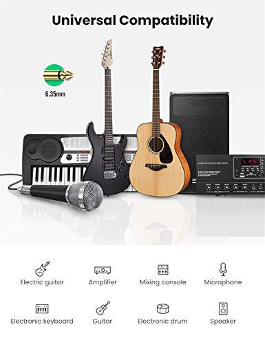 UGREEN Cable Guitarra Eléctrica Professional, Cable Jack 6.35mm Instrumento Mono, 1/4