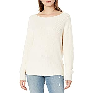 Amazon Brand – Goodthreads Women's Relaxed Fit Mineral Wash Ribbed Boatneck Pullover Sweater