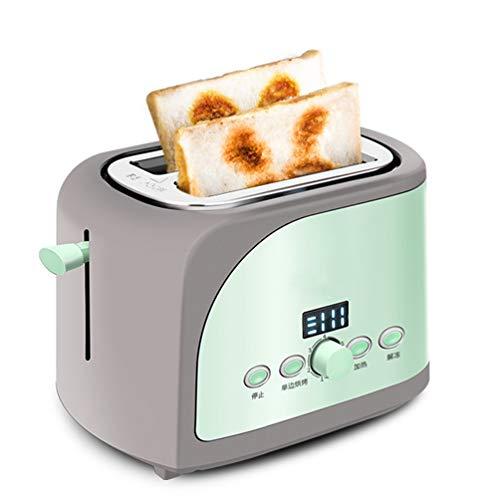 VIVICL Brotmaschine 2 Scheiben Breitschlitz Edelstahl Toaster mit LED Anzeige 7 Shade Toast Einstellungen, für Home Breakfast Brotmaschine,B