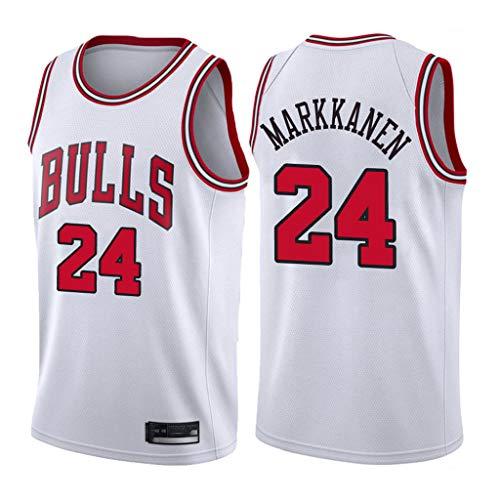 XYFF Maglia da Uomo -Lauri Markkanen-Chicago Bulls # 24 Jersey, criptata e Tessuta Non Facile da sfumare Non Facile da deformare-M(175-185cm)