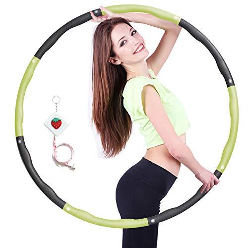 Hula Fitness Reifen Hula Fitness für Erwachsene & Kinder zur Gewichtsabnahme und Massage, Schaumstoff gepolstert 8 Wellenabschnitte Spleißen Abnehmbar Hula-Fitness-Reifen