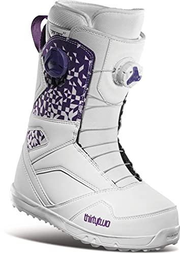Thirty Two STW Double BOA Womens Snowboard Boots White/Purple Sz 8