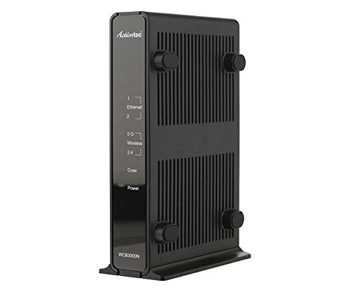 Actiontec WCB3000N01 MoCA Dual-Band Wireless Extender - Retail - 2 x Network (RJ-45) - Desktop, Wall Mountable - WCB3000N01