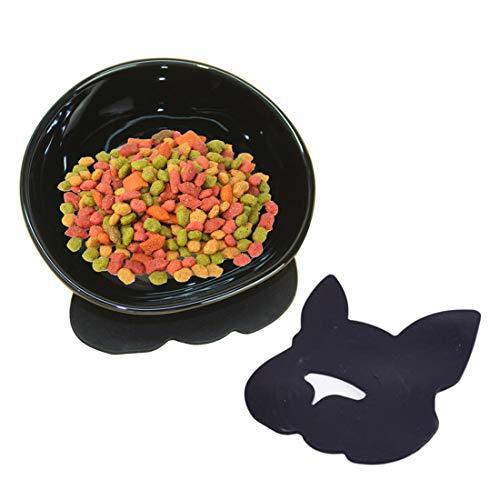 YMAXGO CeramicsTilted Single Food Feeding Bowl for...