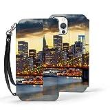 Iphone12 Pro Wallet Case 6.1 Pulgadas Nueva York Estados Unidos Centro de Manhattan City Iphone12 Pro Case Wallet Case Stitch Lindo Cierre magnético Folio Flip Cover con Soporte Característica Titul