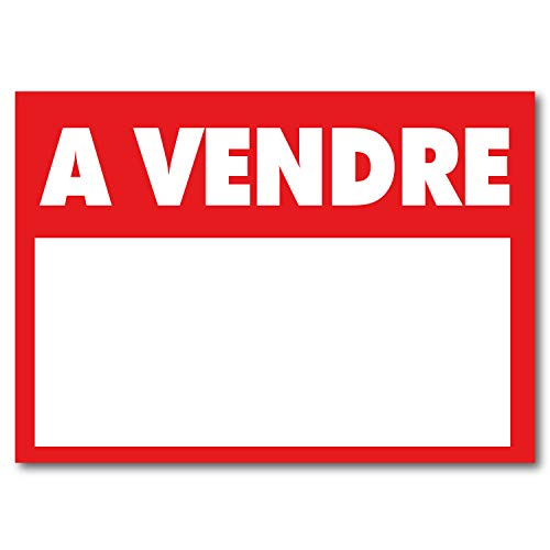 Panneau'à vendre' - PVC alvéolaire AKYLUX 3.5mm - 80x60cm (Rouge)