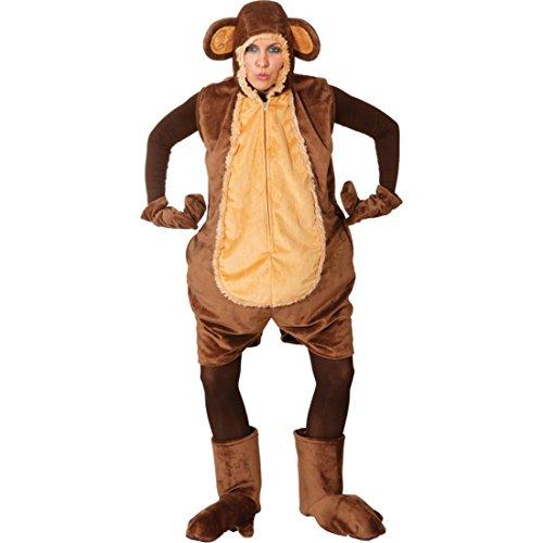 NET TOYS Deluxe Affen Kostüm für Damen Tierkostüm Fastnacht Affenkostüm Straßen Karneval Outfit Verkleidung