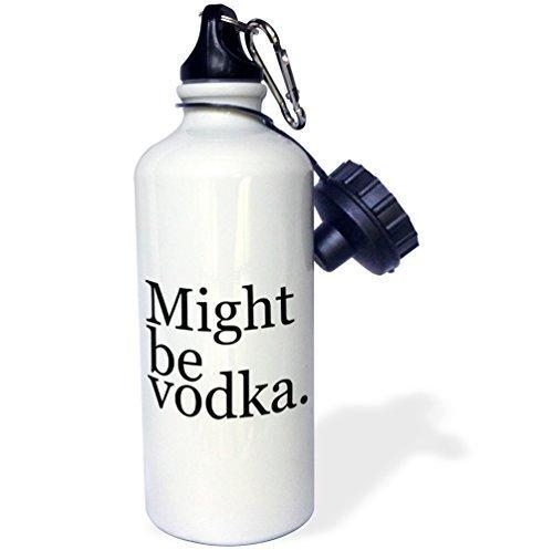 Moson Water fles geschenk, kan worden wodka zwart wit roestvrij staal waterfles voor vrouwen mannen 21 oz