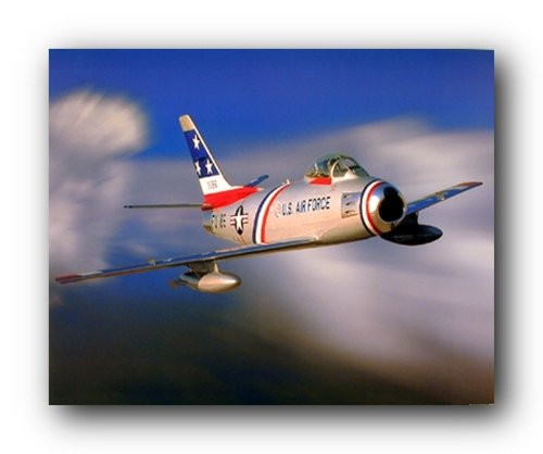 Aviation Military Picture F-86 Sabre Jet Aircraft Wall Décor Art Print Poster (16x20)