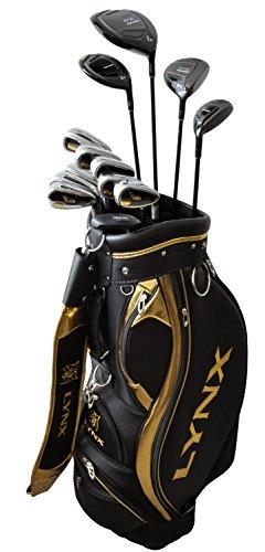 LYNX(リンクス) BLACK CAT Royal Grade2 オールインワンSET RG2 2015 カーボン/パターはスチール フレックス:R ハンド:right 番手:W#1/FW#3/FW#5/UT/I#5-9/PW/AW/SW/PT ライ角:60度(W#1)