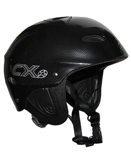Concept X Kite + Surf Casco CX PRO Casco Sport Acquatici in Carbonio, Bianco o Nero, Nero