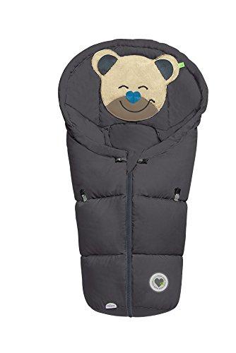 Odenwälder BabyNest Fußsäckchen Mucki classic | 11432-175 | passend für Schalensitze der Gruppe 0, Softragetaschen und Hartschalen | graphite