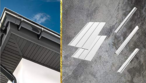 Kunststoffpaneele Weiss RAL 9010 | Verkleidung | Aussen & Innen | Unterdach | Verbindungsleiste H 150x8,1x2cm