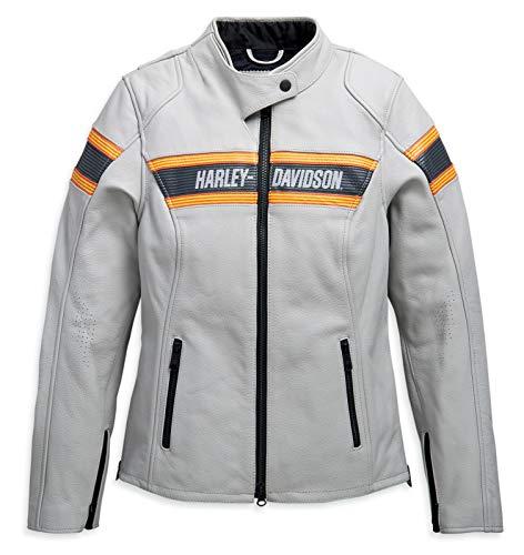 HARLEY-DAVIDSON Damen Motorrad Lederjacke Leder Jacke Sidari, L