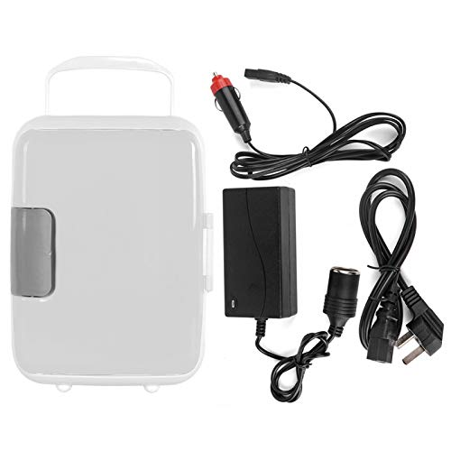 Emoshayoga Mini refrigerador portátil refrigerador Compacto súper versátil y Duradero Mini refrigerador Coche de Oficina para el hogar(White)