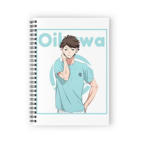 Oikawa Haikyuu Anime Aoba Johsai Spiral Notebooks 160 Pages, Pages with Premium Thick Paper, Strong Twin-Wire Binding for College Students and Office