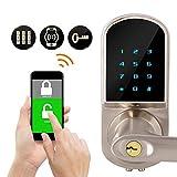 Cerradura de Puerta Elegante, Cerraduras electrónicas Inteligentes con Teclado Digital + Control de App, Sistemas de Entrada de Seguridad para el hogar, Hotel, Apartamento