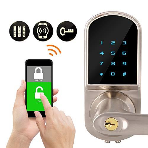 Bluetooth-deurslot, stil elektronische sloten, digitaal toetsenbord, app, ingangssystemen, thuis, voor de woning van hotel thuis.