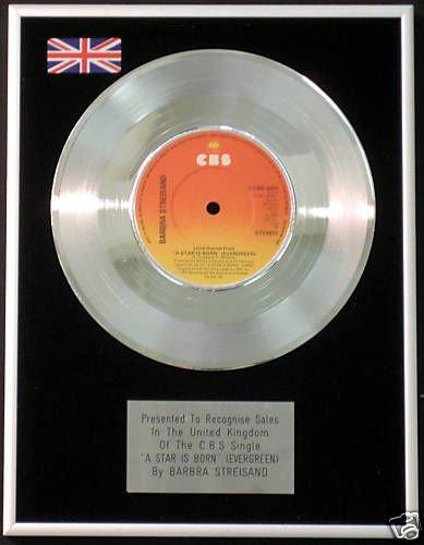 "Barbra Streisand-17,78 cm (7"") Platinum CD A-Star Is Born (Evergreen)"
