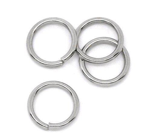 VALYRIA 500pcs Stainless Steel Open Jump Rings Connectors Jewelry Findings 18 Gauge