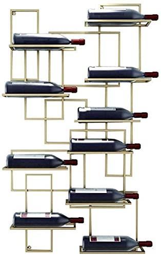 FGDFGDG Talleres De Vino De Montaje De Vino Colgando Botella De Vino Hales Hales Metal Iron Sarteles Estantes De Vino,Oro