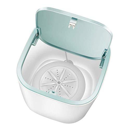 AOIWE Lave-Camping Mini Portable Tube Machine Automatique de ménage 3-5kg Wash Cleaner sous-vêtements Soins Lave-Linge for Voiture Voyage Bleu (Color : White)