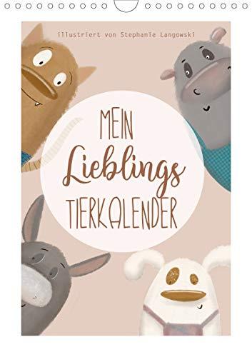 Mein Lieblings Tierkalender (Wandkalender 2020 DIN A4 hoch)