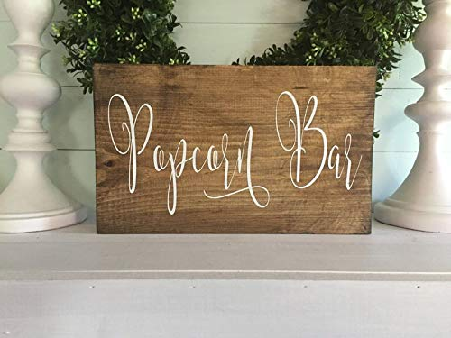 Best Deals! Sign Popcorn Bar - Popcorn Bar Popcorn Wood Wedding Popcorn - Custom Wedding Custom Wedd...