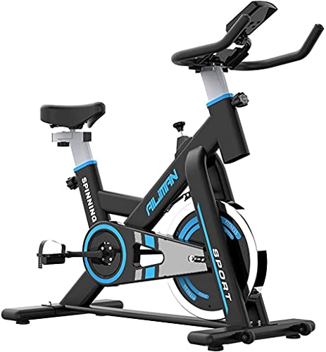NBLD Bicicleta giratoria Bicicleta estática para el hogar, Bicicleta de Ciclismo Interior con transmisión por Correa, Bicicleta Fija Ajustable, Gimnasio en casa, Bicicleta giratoria