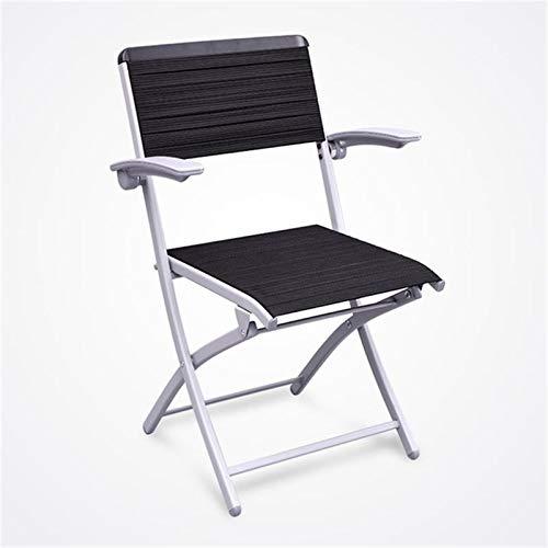Lpinvin Trainingsstuhl Faltbare Rückenlehne Trainingsstuhl Bürostuhl Einfache Konferenztrainingstuhl Tragbarer Trainingsstuhl (Farbe : Black, Size : 48x48x89cm)