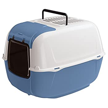 Ferplast, Prima cabrio maison de toilette pour chats, colori bleu