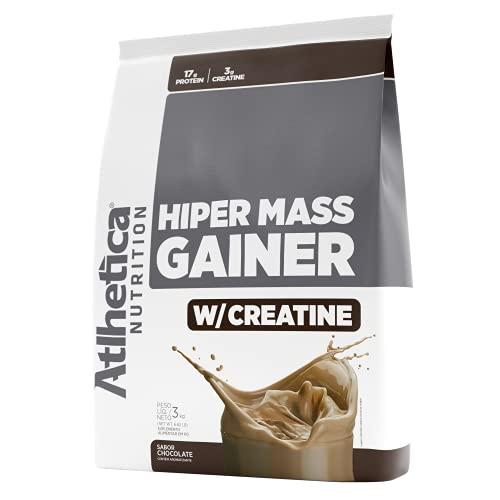 Hiper Mass Gainer W/Creatine (3Kg) - Sabor Chocolate, Atlhetica Nutrition