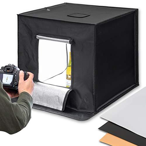 ottostyle.jp 撮影ボックス LED照明付き 撮影ブース 簡易スタジオ (背景スクリーン 3色付:ホワイト/ブラッ...