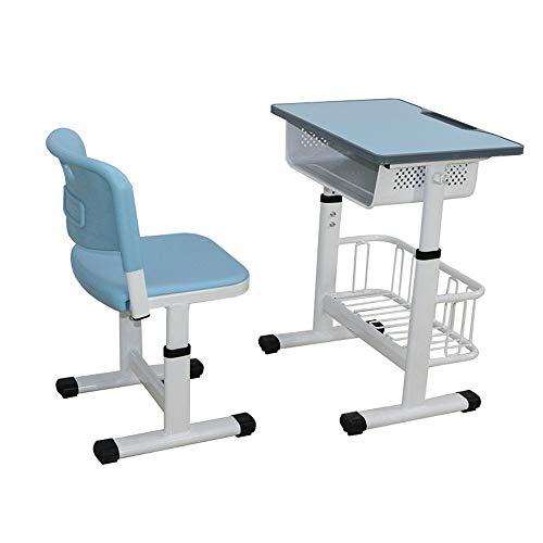 Escritorio infantil Juego de sillas Pupitres y sillas escolares y formación de gran estudiante de escuela primaria Clases Mesas de Tutoría Clases de elevación Mesas de aprendizaje y las sillas