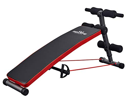 RELIFE REBUILD YOUR LIFE Sit Up Bench Adjustable Workout Foldable Bench Fitness Equipment