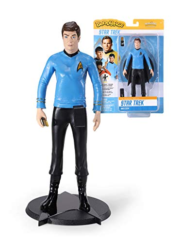 The Noble Collection Bendyfigs Dr McCoy Figure Officially Licensed 19cm (7.5 inch) Star Trek Bendable Toys Posable Collectable Doll Figures With Stand - For Kids & Adults
