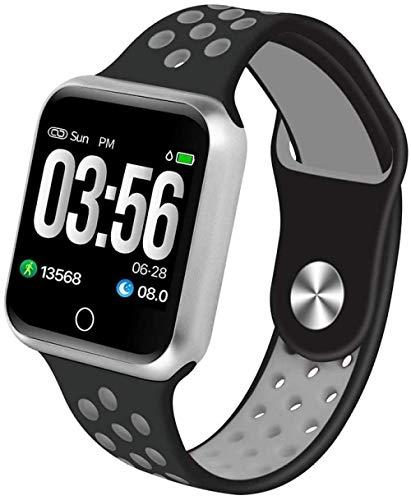hwbq Reloj inteligente pulsera de metal a color de pantalla de presión arterial ritmo cardíaco deportes paso impermeable reloj de pulsera -8005