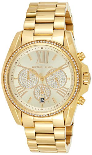 Relógio feminino Michael Kors Bradshaw Pav dourado MK6538