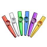 WEKON 6pcs Kazoo, Kazoo Instrumento Metal, Flauta Kazoo, Instrumento Musical Kazoo, Kazoo Portátil Aleación de Aluminio Regalo para Niños 6 Colores