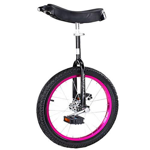 Einrad 24/20/18/16 Inch Anfänger/Profis, Erwachsene Kinder Balance Radfahren Übung, Alufelge & Ergonomischer Sattel (Color : Purple, Size : 24in)